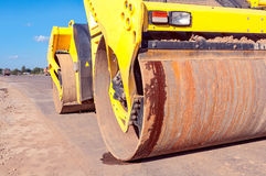 Part of road roller. Stock Photo