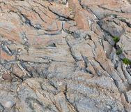 Part of rock close up. Royalty Free Stock Photo