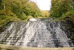 Reservoir System. Part of the Roddlesworth reservoir system showing the overflow between two reservoirs of different levels Royalty Free Stock Photo