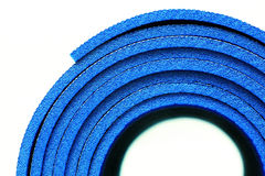 A part of rolled up yoga mat Royalty Free Stock Photos
