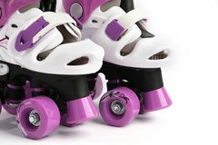 Part of roller skates on a white background stock photo
