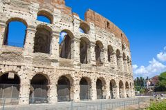 Part of the Roman Colosseum amphiteater in Rome Stock Image