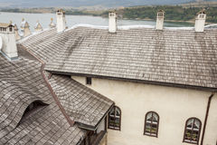 Part of roof - Niedzica castle, Poland. Royalty Free Stock Images