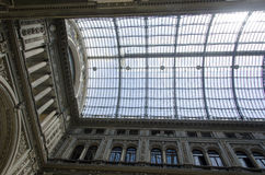 Part of the roof in Umberto I gallery Stock Images