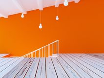 Part of the room, stairs, 3d Royalty Free Stock Image
