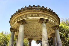 Part of rotunda inside complex Villa Borghese, Rome Stock Photos
