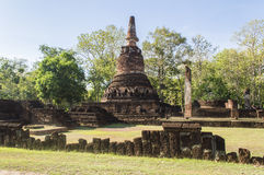 Part of the ruin of the temple Wat Phra Kaeo Stock Image