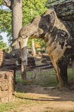 Part of the ruin of the temple Wat Phra Kaeo Royalty Free Stock Photo