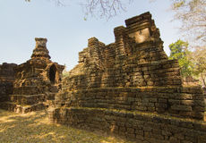 Part of the ruin of Wat  Chedi Chet Thaew, Si Satchanalai, Thailand Royalty Free Stock Photography