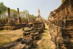 Part of the ruin of Wat  Chedi Chet Thaew, Si Satchanalai, Thailand Royalty Free Stock Photo