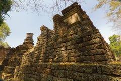 Part of the ruin of Wat  Chedi Chet Thaew, Si Satchanalai, Thailand Stock Image