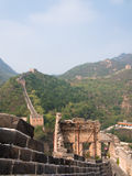 Part of the ruined Great Wall of China Royalty Free Stock Photos