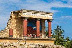 Part of the ruins in Knosos, Crete royalty free stock photo