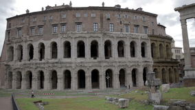 Part of ruins in Rome, Italy. Shot of some old ancient ruins in Rome, Italy stock footage