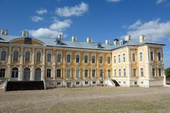 Part of Rundale palace building stock images