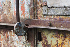 Part of a rusty metal door Royalty Free Stock Photography