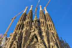 Part of the Sagrada Familia during the day Stock Photo