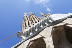 Part of Sagrada Familia Spain Royalty Free Stock Photography
