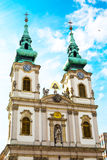 Part of Saint Anne Church or Szent Anna templom in Budapest, Hungary Royalty Free Stock Photo