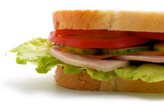 Part of the sandwich (horizontal) Stock Image