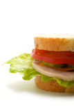 Part of the sandwich (vertical) Royalty Free Stock Photography