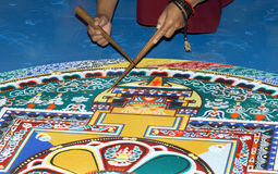 Part of sandy mandala Stock Photo
