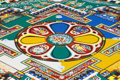 Part of sandy mandala Stock Photos