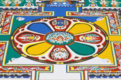 Part of sandy mandala Stock Image