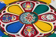 Part of sandy mandala Royalty Free Stock Photo