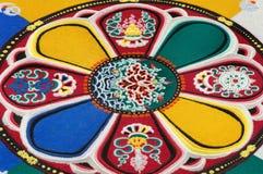 Part of sandy mandala.  Royalty Free Stock Photo