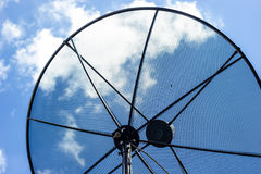 Part of Satellite Dish. On blue sky Stock Photography