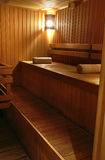 Part of sauna interior Stock Photography