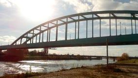Part of the Sava Bridge in Zagreb Royalty Free Stock Photos