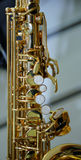 Part of a saxophone close up Royalty Free Stock Photo