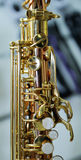 Part of a saxophone close up Stock Images