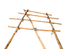 Part of scaffolding. Made by bamboo Stock Photo