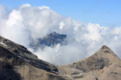 Part of the Schilthorn and other Swiss mountains Stock Image