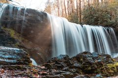 Waterfall located at Brasstown Falls near Westminister, SC. Part of a series of waterfalls that are called Brasstown Falls in Westminister, SC Stock Image