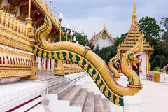 Part of serpent wat nong wang,thai temple Royalty Free Stock Photography