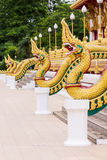 Part of serpent wat nong wang,thai temple Stock Photo