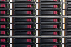 Part of server rack Royalty Free Stock Images