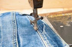 Part of sewing machine Royalty Free Stock Photography