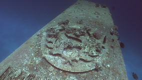 Part of shipwrecks Salem Express underwater in the Red Sea in Egypt. stock footage