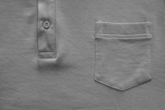 Part shirt closeup of gray color Royalty Free Stock Photo