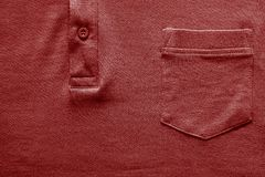 Part shirt closeup of red color Royalty Free Stock Image
