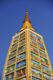 Part of the Shwedagon Pagoda in Yangon, Myanmar Royalty Free Stock Images