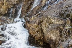 Part of Siklawica waterfall - Tatras Mountains. Royalty Free Stock Images