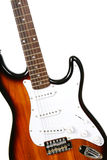 Part of sillhouette a guitar. On the white background Stock Photography