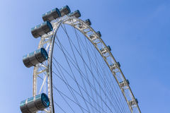 Part of Singapore flyer in blue sky Royalty Free Stock Image