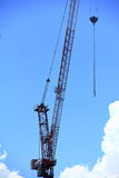 Part of single crane. Is working Stock Photos
